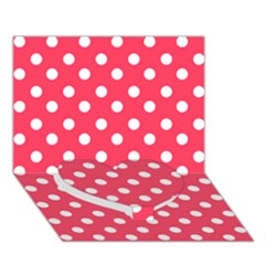 Hot Pink Polka Dots Heart Bottom 3d Greeting Card (7x5)  by creativemom