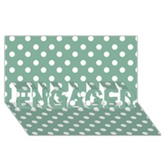 Mint Green Polka Dots Engaged 3d Greeting Card (8x4)