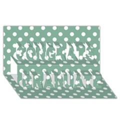 Mint Green Polka Dots Congrats Graduate 3d Greeting Card (8x4)