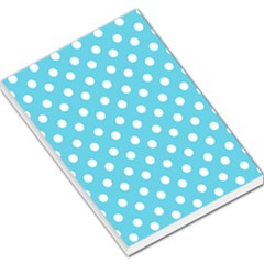 Sky Blue Polka Dots Large Memo Pads by creativemom