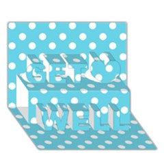 Sky Blue Polka Dots Get Well 3d Greeting Card (7x5)
