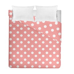 Coral And White Polka Dots Duvet Cover (twin Size) by creativemom