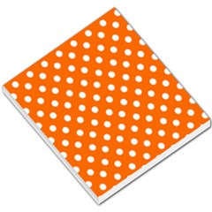 Orange And White Polka Dots Small Memo Pads by creativemom