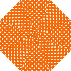 Orange And White Polka Dots Hook Handle Umbrellas (large) by creativemom