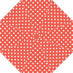 Indian Red Polka Dots Folding Umbrellas