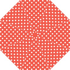 Indian Red Polka Dots Hook Handle Umbrellas (small) by creativemom