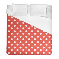 Indian Red Polka Dots Duvet Cover Single Side (twin Size) by creativemom