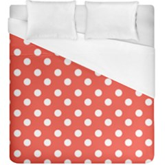 Indian Red Polka Dots Duvet Cover Single Side (kingsize) by creativemom