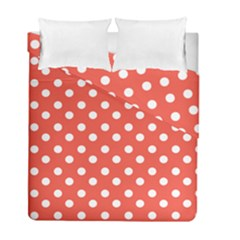 Indian Red Polka Dots Duvet Cover (twin Size) by creativemom