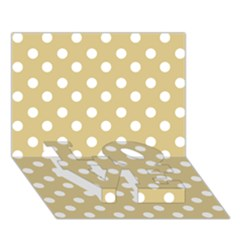 Mint Polka And White Polka Dots Love Bottom 3d Greeting Card (7x5)