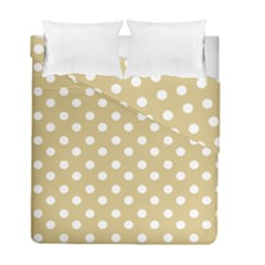 Mint Polka And White Polka Dots Duvet Cover (twin Size) by creativemom