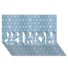 Geo Fun 7 Light Blue #1 Mom 3d Greeting Cards (8x4)