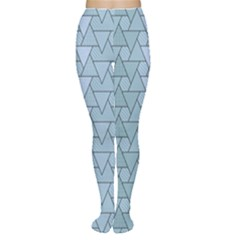 Geo Fun 7 Light Blue Women s Tights by MoreColorsinLife