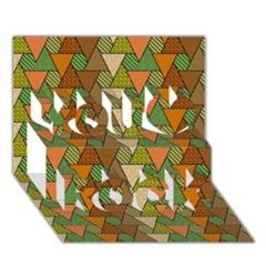 Geo Fun 7 Warm Autumn  You Rock 3d Greeting Card (7x5)  by MoreColorsinLife
