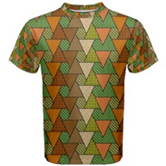 Geo Fun 7 Warm Autumn  Men s Cotton Tees by MoreColorsinLife