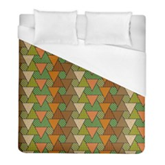 Geo Fun 7 Warm Autumn  Duvet Cover Single Side (Twin Size) by MoreColorsinLife