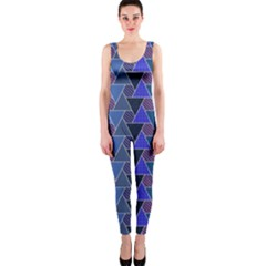 Geo Fun 7 Inky Blue Onepiece Catsuits by MoreColorsinLife