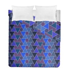 Geo Fun 7 Inky Blue Duvet Cover (Twin Size) by MoreColorsinLife
