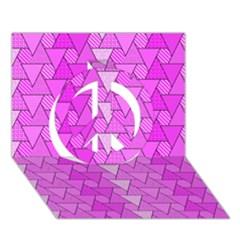 Geo Fun 7 Peace Sign 3d Greeting Card (7x5)