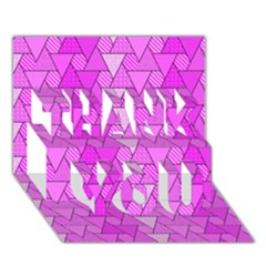 Geo Fun 7 Thank You 3d Greeting Card (7x5)