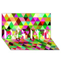 Geo Fun 07 Best Bro 3d Greeting Card (8x4)