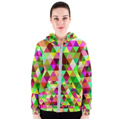Geo Fun 07 Women s Zipper Hoodies by MoreColorsinLife