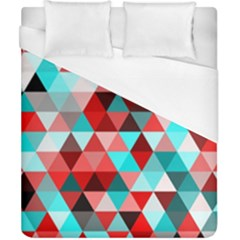 Geo Fun 07 Red Duvet Cover Single Side (Double Size) by MoreColorsinLife