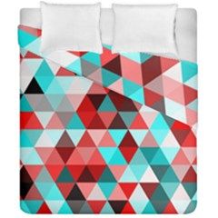 Geo Fun 07 Red Duvet Cover (double Size) by MoreColorsinLife