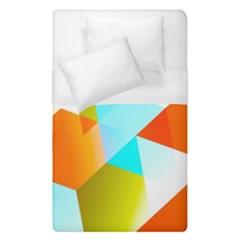 Geometric 03 Orange Duvet Cover Single Side (single Size) by MoreColorsinLife