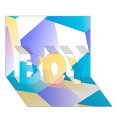 Geometric 03 Blue Boy 3d Greeting Card (7x5) by MoreColorsinLife