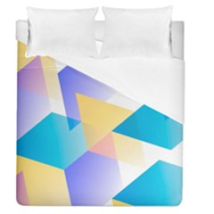 Geometric 03 Blue Duvet Cover Single Side (full/queen Size) by MoreColorsinLife