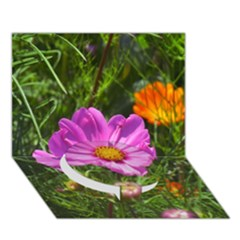 Amazing Garden Flowers 24 Circle Bottom 3D Greeting Card (7x5)  by MoreColorsinLife