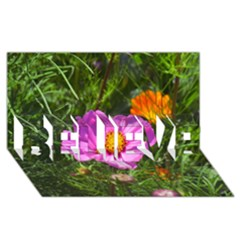 Amazing Garden Flowers 24 Believe 3d Greeting Card (8x4)