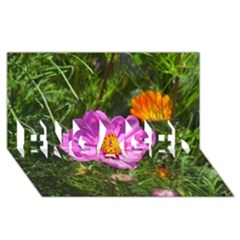 Amazing Garden Flowers 24 Engaged 3d Greeting Card (8x4)