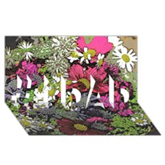 Amazing Garden Flowers 21 #1 Dad 3d Greeting Card (8x4)