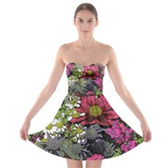 Amazing Garden Flowers 21 Strapless Bra Top Dress by MoreColorsinLife