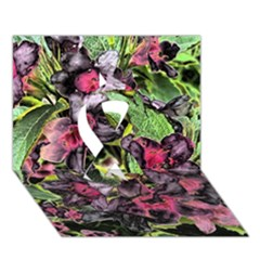 Amazing Garden Flowers 33 Ribbon 3d Greeting Card (7x5)