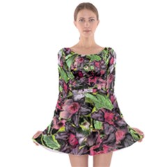 Amazing Garden Flowers 33 Long Sleeve Skater Dress