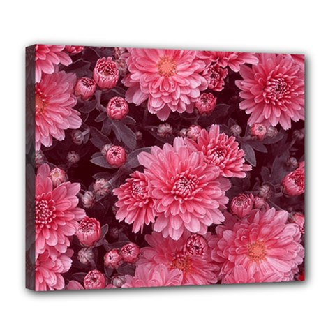 Awesome Flowers Red Deluxe Canvas 24  X 20   by MoreColorsinLife