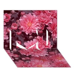 Awesome Flowers Red I Love You 3d Greeting Card (7x5)  by MoreColorsinLife