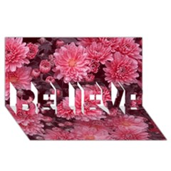 Awesome Flowers Red Believe 3d Greeting Card (8x4)  by MoreColorsinLife