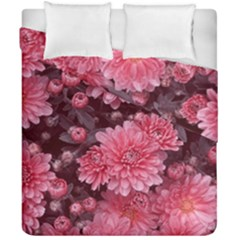 Awesome Flowers Red Duvet Cover (double Size) by MoreColorsinLife
