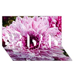 Wonderful Flowers #1 Dad 3d Greeting Card (8x4)