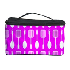 Purple Spatula Spoon Pattern Cosmetic Storage Cases by creativemom