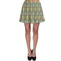 Spatula Spoon Pattern Skater Skirts by creativemom