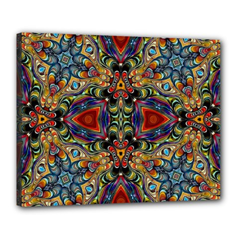 Magnificent Kaleido Design Canvas 20  x 16  by MoreColorsinLife