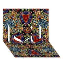 Magnificent Kaleido Design I Love You 3d Greeting Card (7x5)