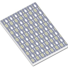 Spatula Spoon Pattern Large Memo Pads