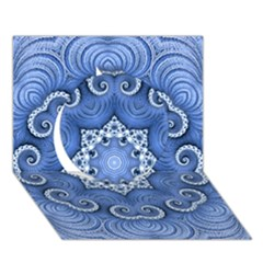 Awesome Kaleido 07 Blue Circle 3d Greeting Card (7x5)