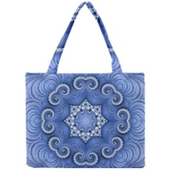 Awesome Kaleido 07 Blue Tiny Tote Bags by MoreColorsinLife